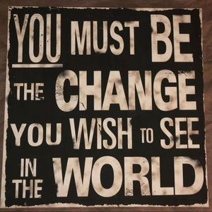 Other - Motivational Quote On Canvas Change The World